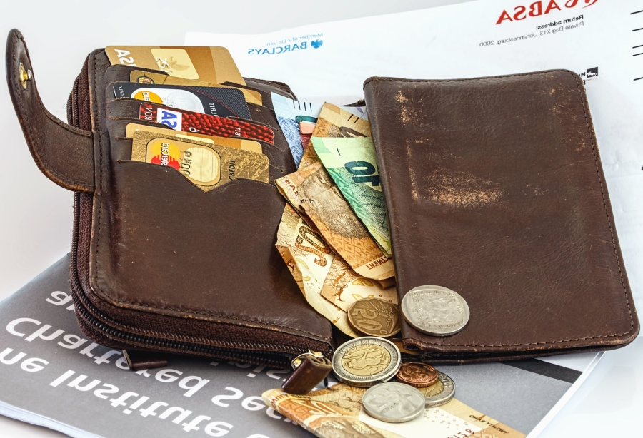 finance, money, purse, wallet, metal, paper, value