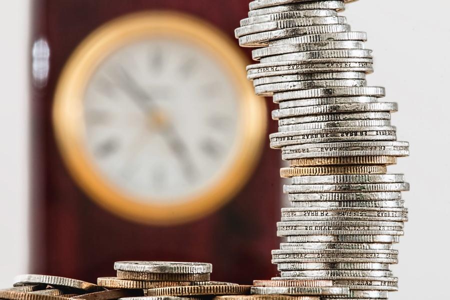 business, finance, money, metal, clock