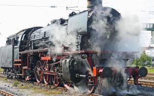 Locomotive à vapeur, train, fumée, moteur à vapeur, température, pression