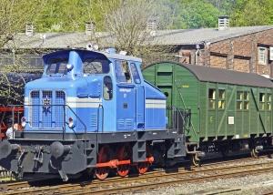 Transporte, tren, locomotora, ferrocarril, árbol, casa