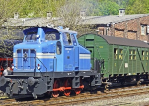 transport, train, locomotive, railroad, tree, house