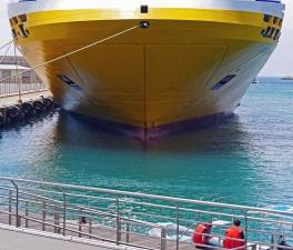 Barco, gente, agua, mar, océano, transporte, muelle