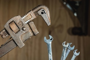 wrench, hand tool, screwdriver, metal, mechanical, screw