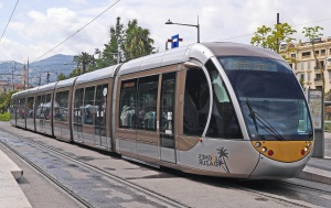 streetcar, vehicle, passenger, transportation, transport, town