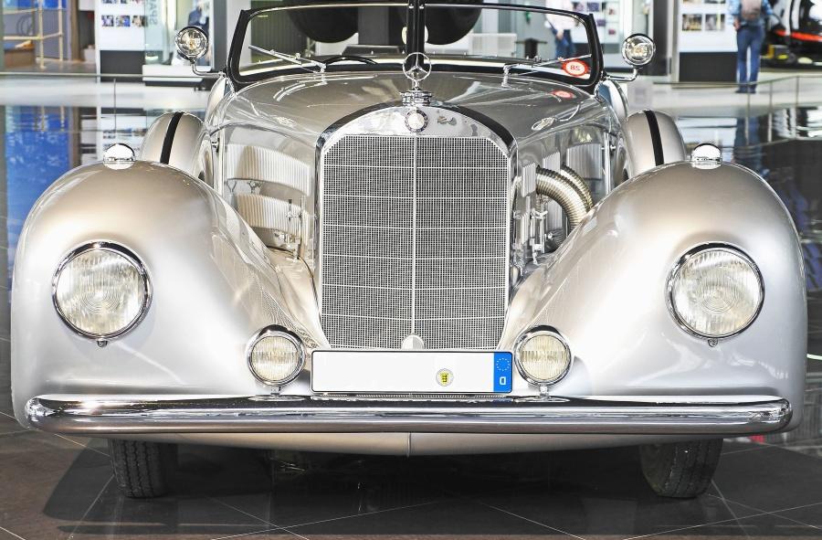 car, retro, luxury, classic, museum, metallic