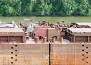 kov, lodí, stavba, voda, řeka, Les