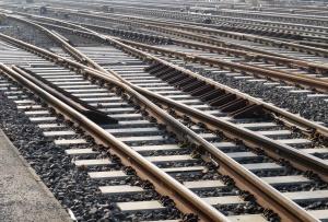 železniční, kámen, kov, beton, trať, železnice