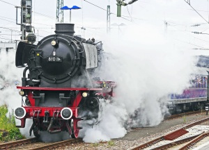 locomotive, smoke, steam engine, transportation, railroad, station, transport, vehicle