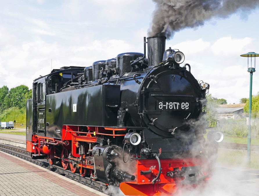 vehicle, engine, train, railroad, steam locomotive