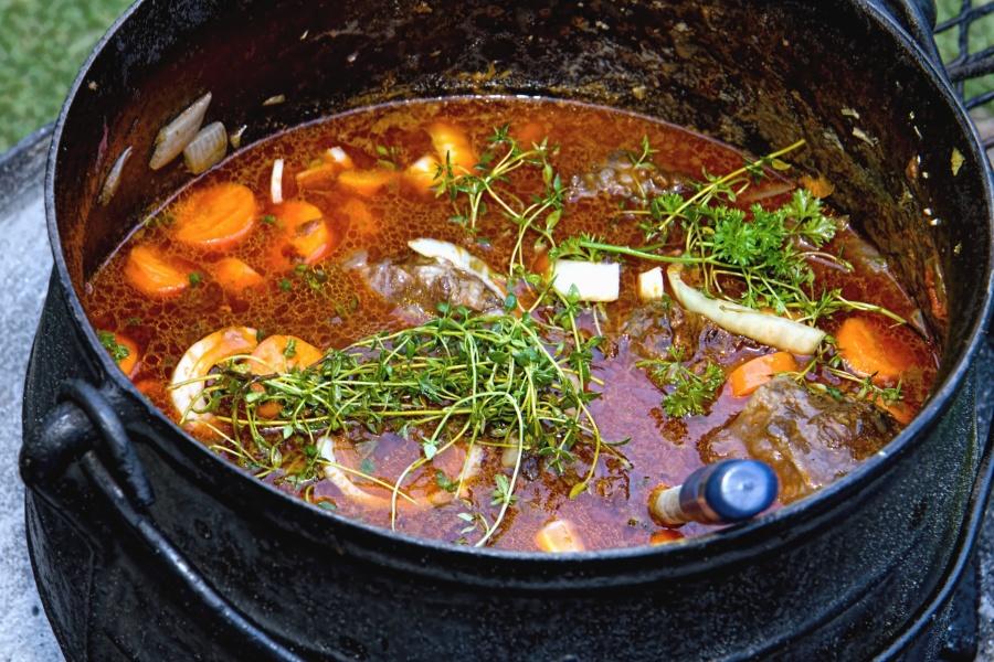 Comida, especia, hierba, cebolla, carne, almuerzo
