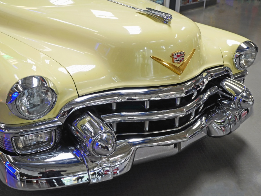 autó, klasszikus, fém, krómozott, jármű, luxus