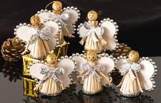art, doll, dress, toy, pinecone, decoration