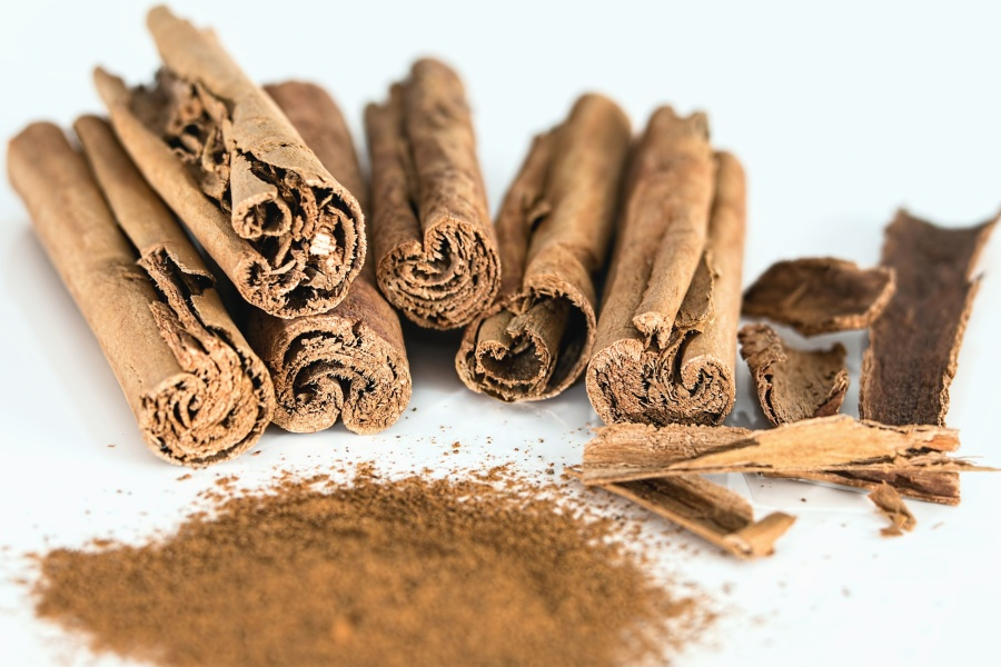 cinnamon, bark, spice, brown, natural, food, texture, dry