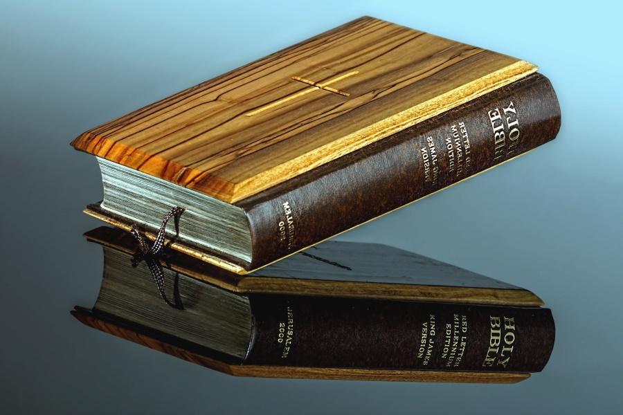 本を読み、科学、聖書