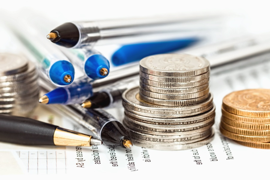 money, metal coins, pencil, paper, finance, business, economy