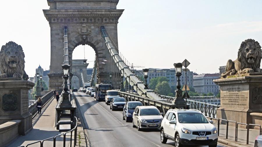 bridge, car, architecture, city, urban, transport, construction, art