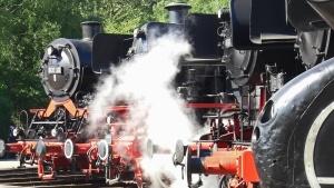 蒸気エンジン、鉄道、金属、エンジン、蒸気機関車、電源、旧型
