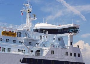 Mar, océano, nave, sala de control, viaje, vehículo, bandera