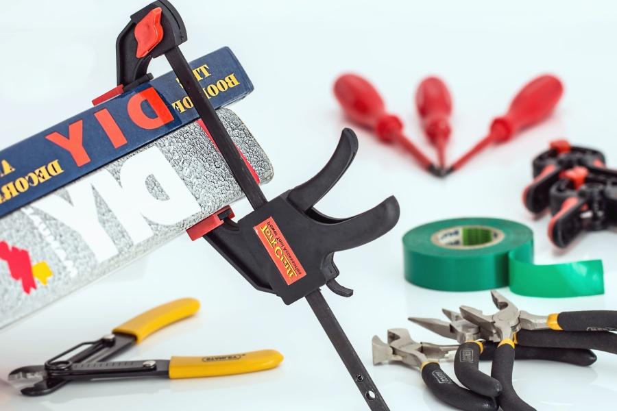 hand tool, tape, pliers, screwdriver, metal, steel