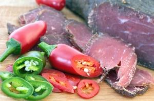 bell pepper, vegetable, food, dry meat, meat, food, seed