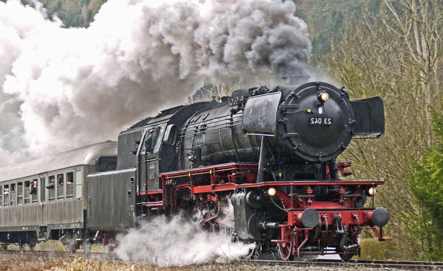 smoke, steam, machine, steam locomotive, passenger, railroad
