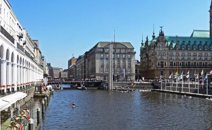 Agua, río, puente, edificio, arquitectura, barco, viaje, urbano