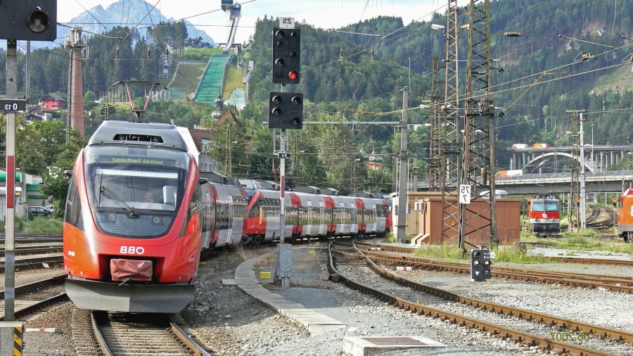 lokomotiva, mehanika, željeznica, vlak, putnika, planine, na semaforu