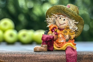 art, doll, hat, toy, apple