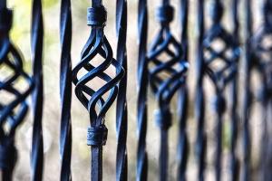 Cerca, barrera, hierro, arte, terraza
