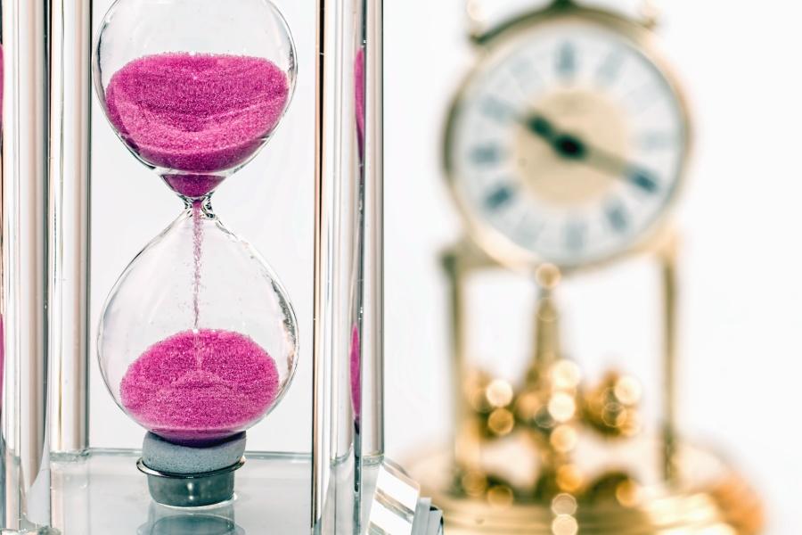 hourglass, sandglass, timepiece, glass, clock
