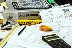 Kalkulator, kertas, pena, kalkulator, marker, ekonomi, bisnis