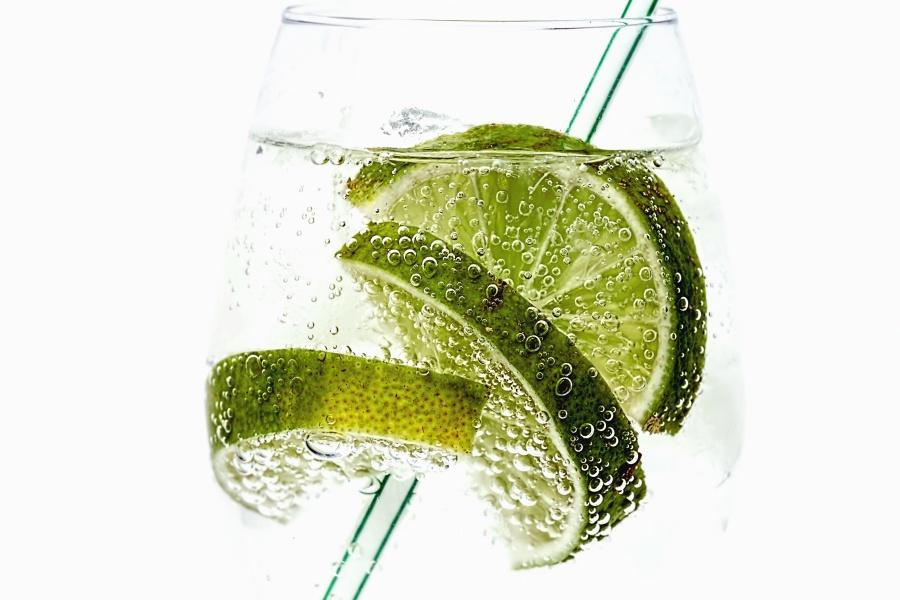 plant, lemon, fruit juice, water, glass, drink, vitamin, bubble