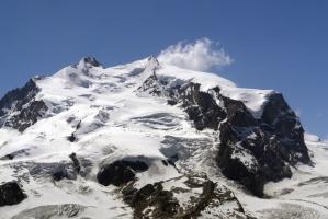 glacier, mountain, snow, landscape, mountain, winter, sky