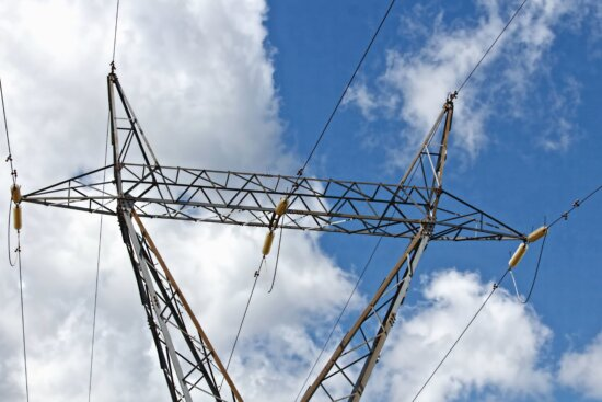 metal, transmission line, construction, electricity, wire, sky