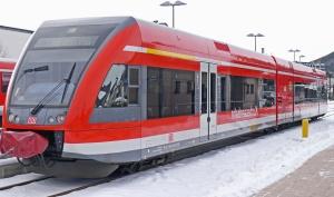 sníh, lokomotiva, vlak, železnice, moderní, dopravní