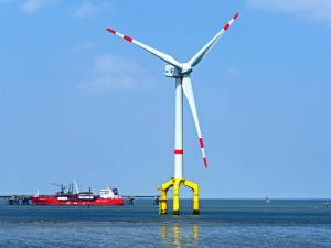ship, water, sea, windmill, electricity, wind, power