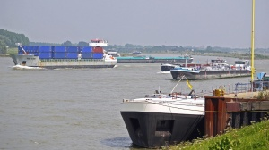 ship, river, transport, cargo, coast, container