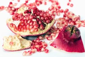 과일, 석류, 베리, 음식, 생성, 달콤한, 디저트, 익은
