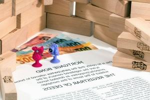 box, toy, figure, plastic, wood
