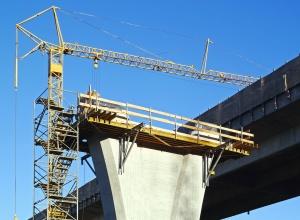bridge, architecture, crane, concrete, metal, sky