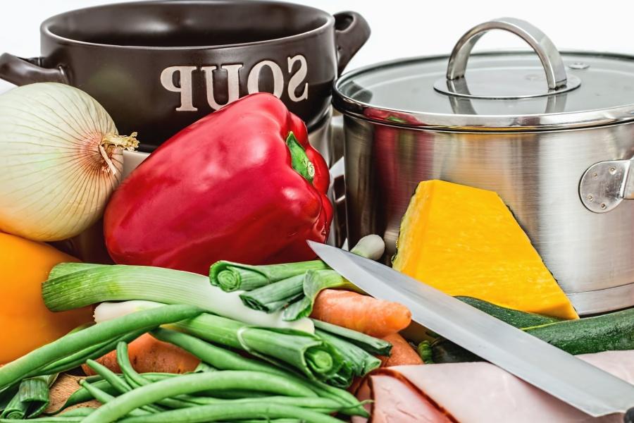 ost, paprika, løk, grønnsaker, mat, metall, lunsj, kjøkken