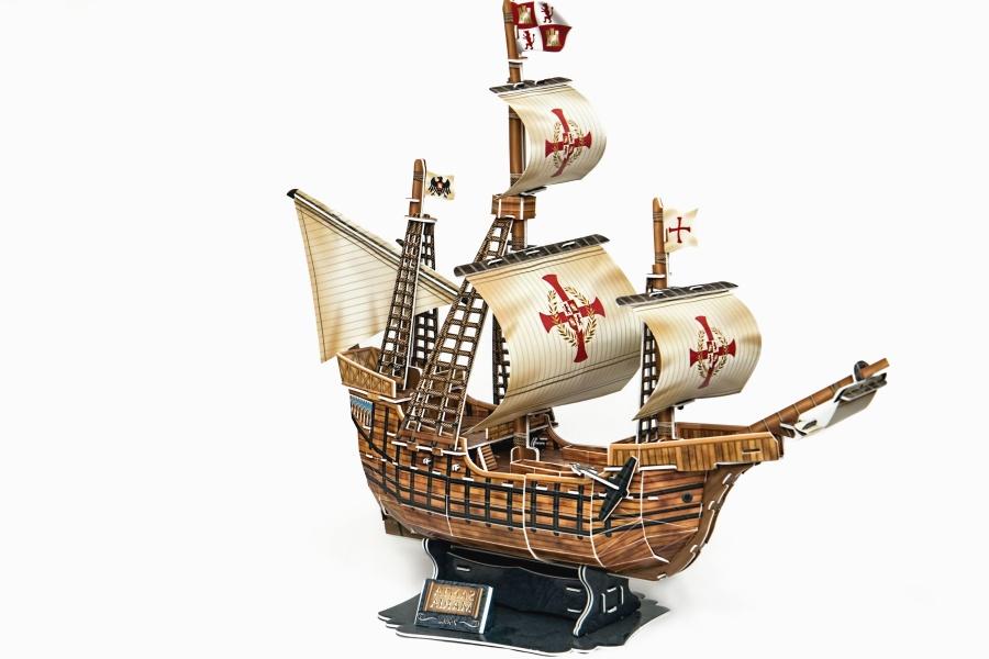Kostenlose Bild: Schiff, Modell, Baum, Segel, Kreuz
