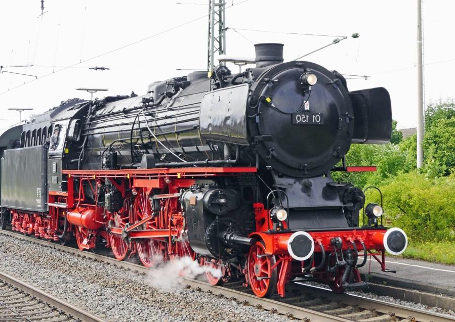 Dampflokomotive, eisenbahn, zug, metall, fahrzeug, motor