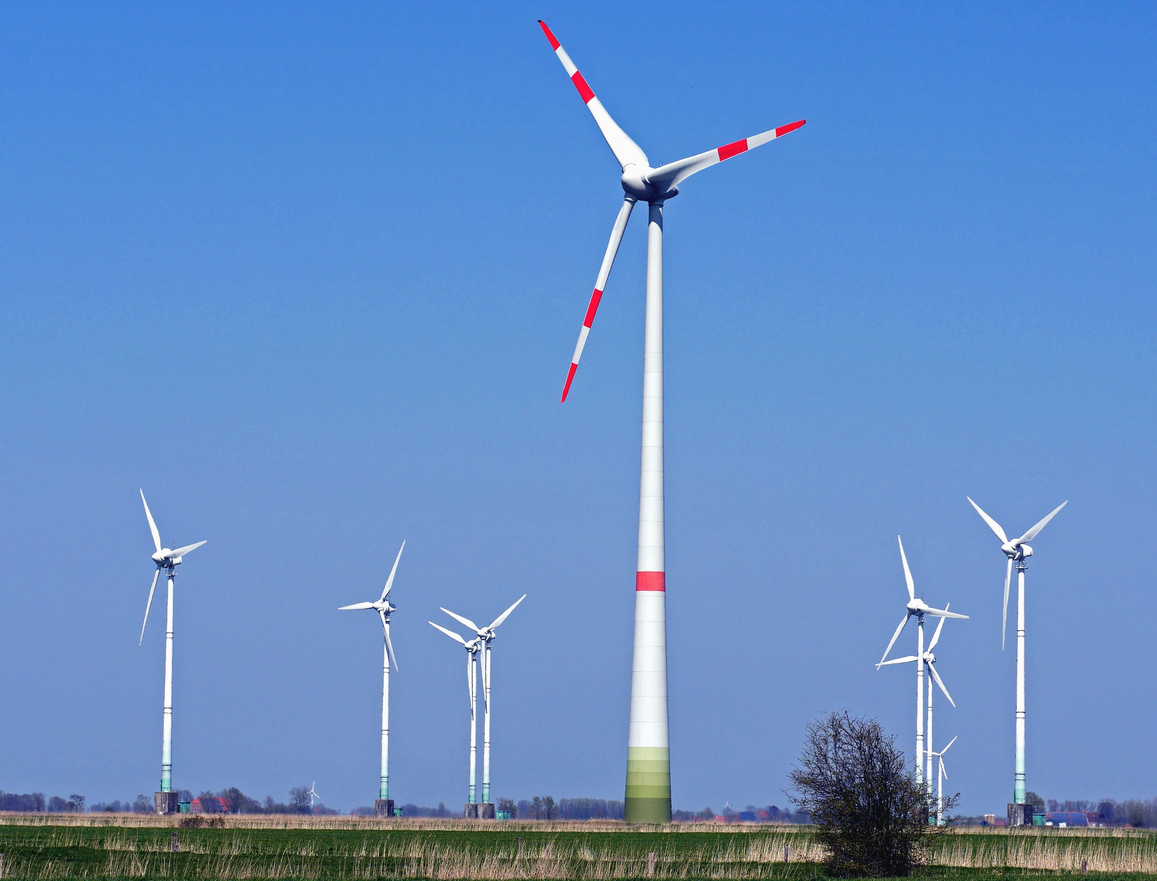 Free Picture Windmill Power Wind Meadow Electricity