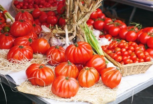tomato, vegetable, organic, basket, table, food