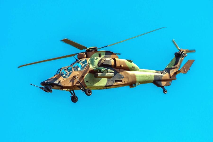Hélicoptère, avion, ciel, militaire