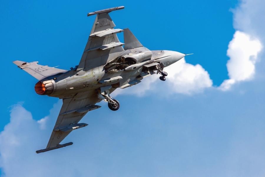 Avion de guerre, militaire, avion, roue, aile, ciel
