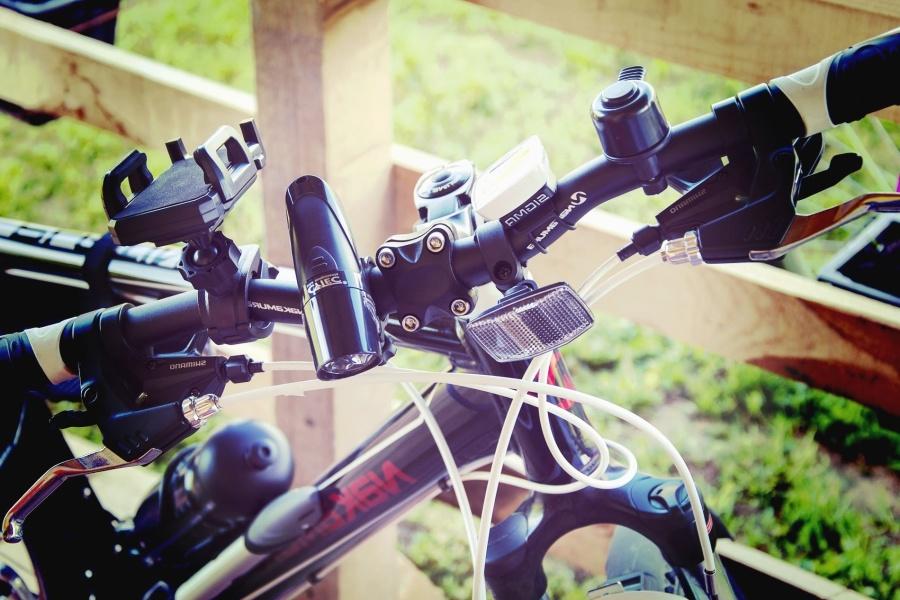 自行车, 金属, 灯, 刹车, 运动