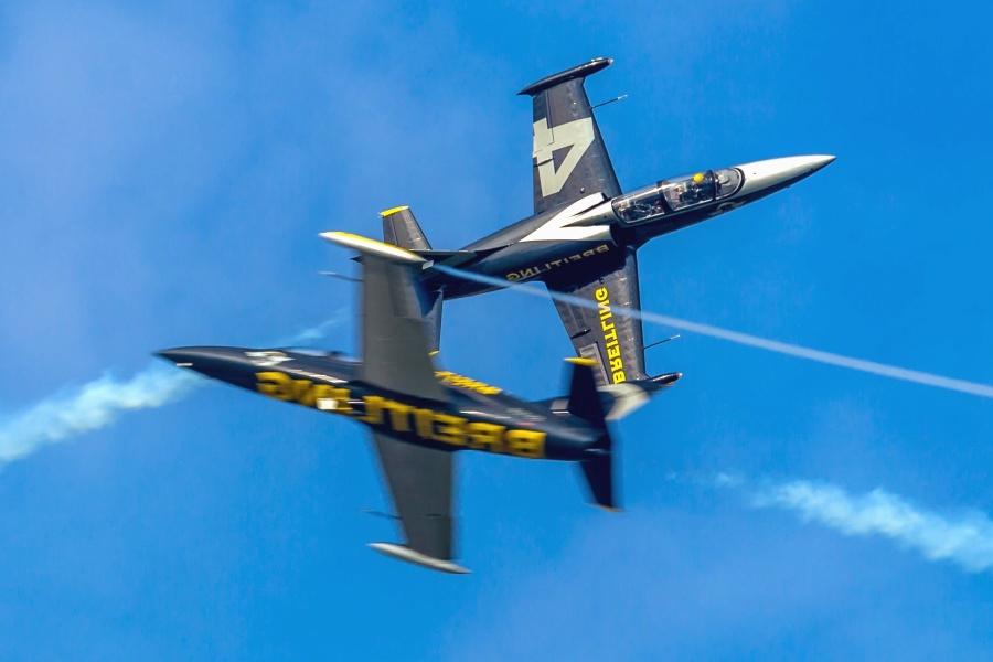 Avion, jet, vol, ciel, fumée, avion de guerre, militaire