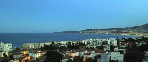 coast, city, sea, water, building, architecture, tourism, light